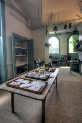 Harewood House in Yorkshire has a still room which was used to lay breakfast trays