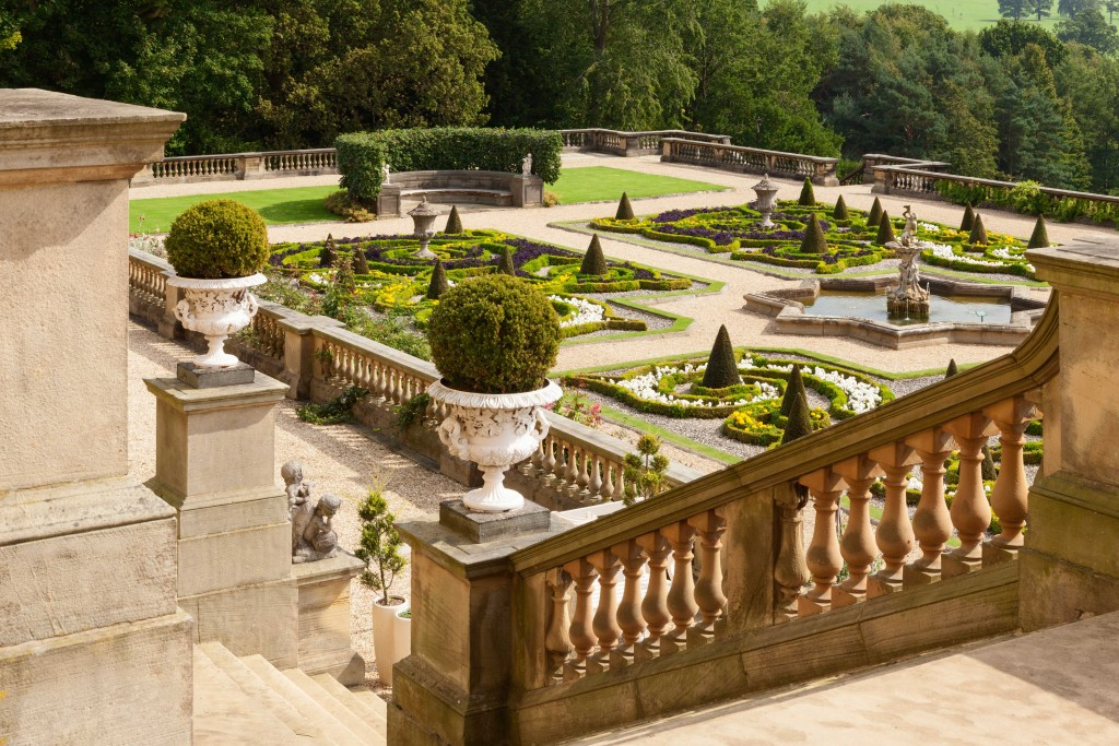 Views of the Terrace garden at Harewood House in Leeds