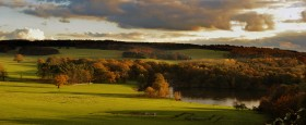 Harewood House in Yorkshire has amazing landscapes in autumn