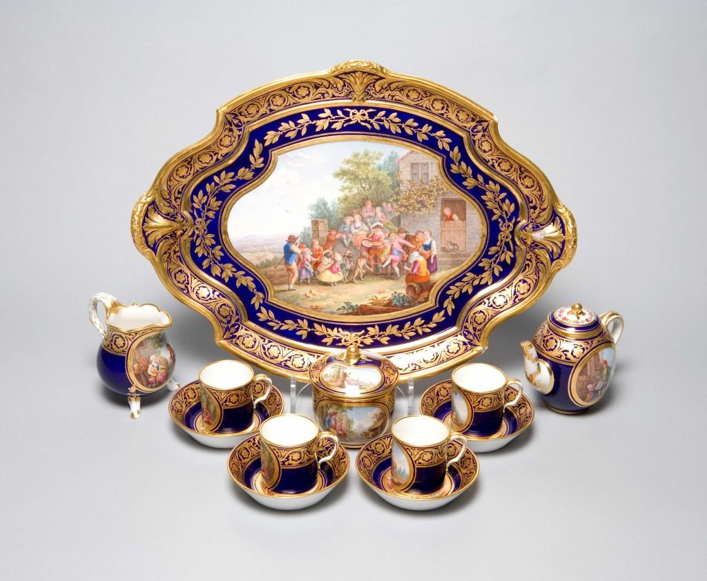 Rare Sevres porcelain tea service at Harewood
