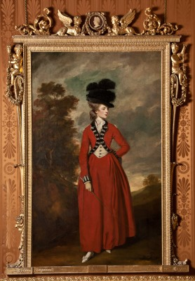 Lady Worsley's painting hang in Harewood House in Yorkshire