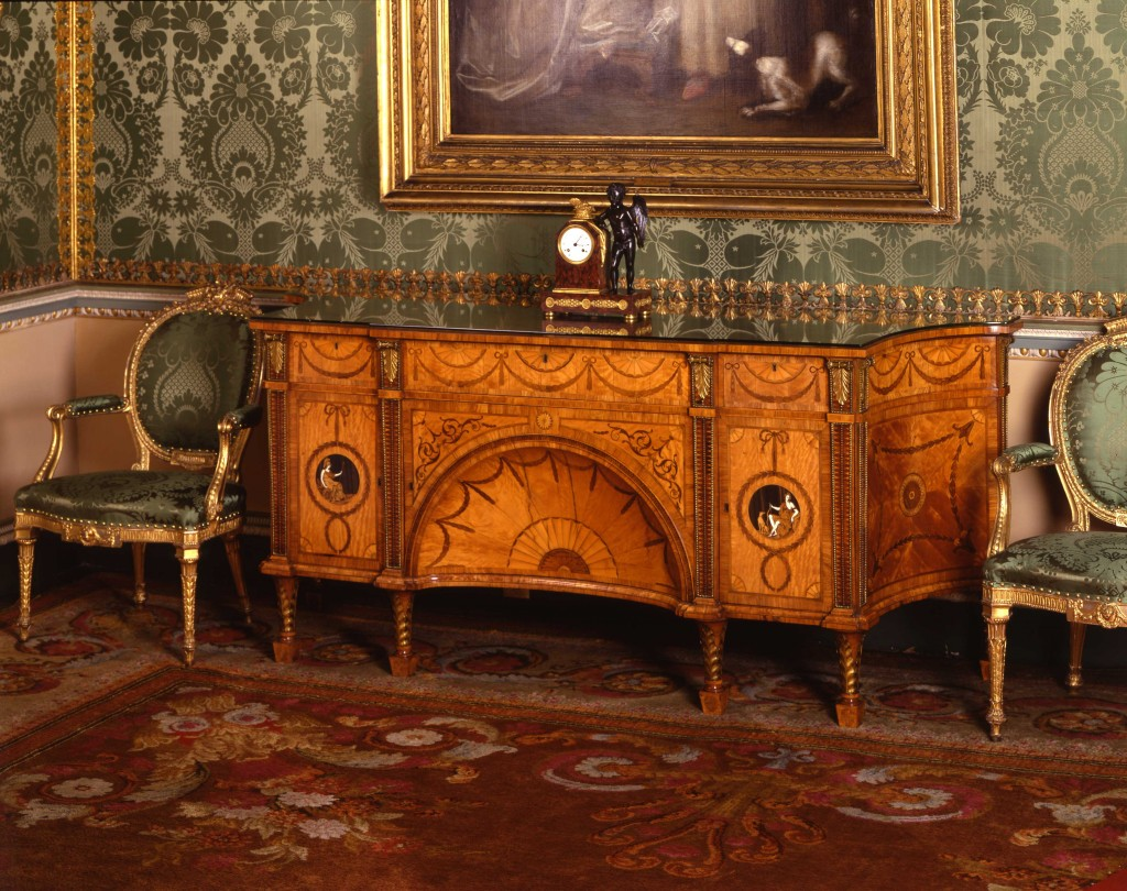 Delicate ivory inlays make the Diana and Minerva commode a fascinating piece of work