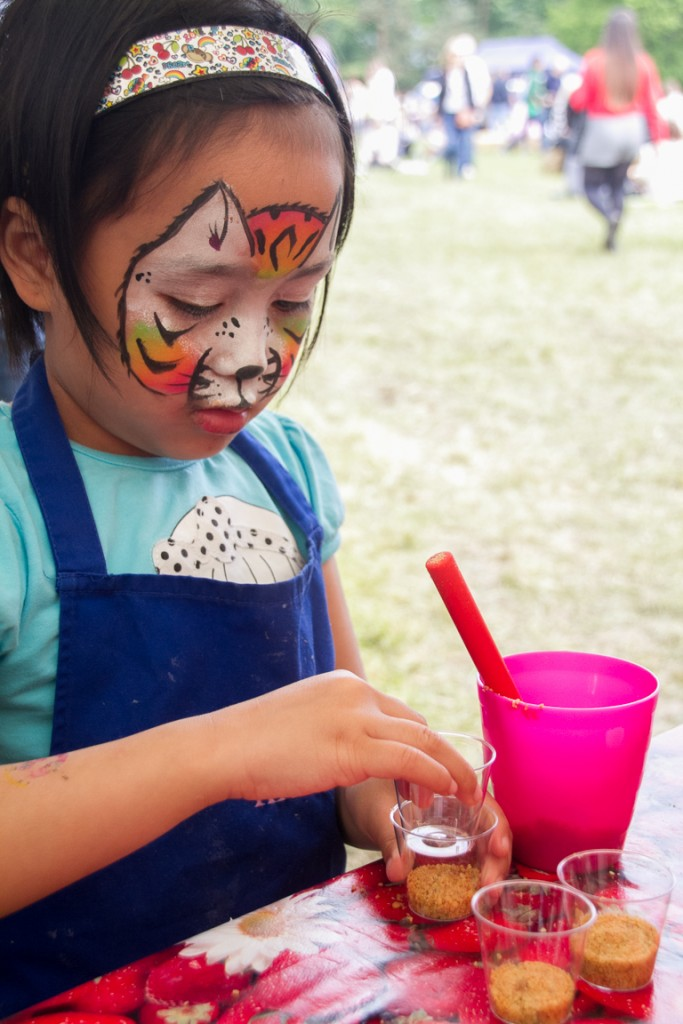 Face painting at the Great British Food Festival