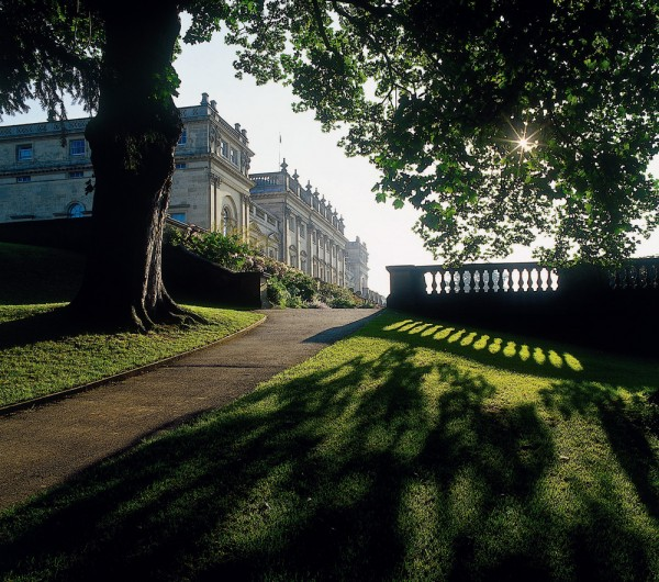 A view of Harewood House from the West Garden