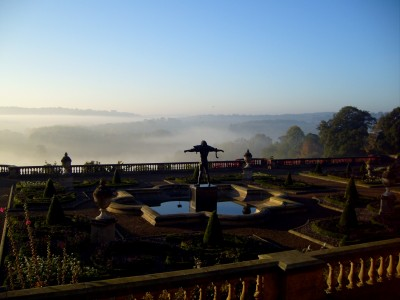 Harewood House in Yorkshire has a Terrace with sculpture