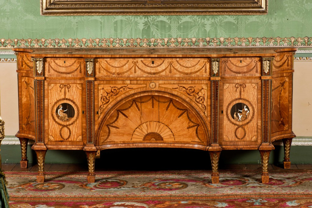 Delicate inlays create one of Chippendale's finest pieces