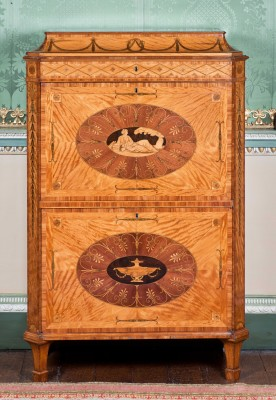 Chippendale designed furniture in the State Bedroom