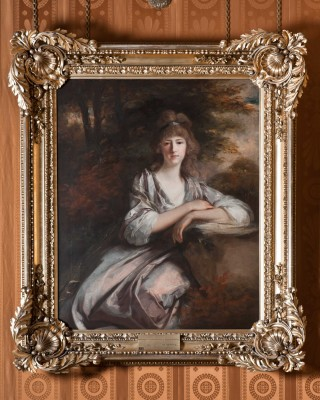 Harewood House in Yorkshire has Hoppner paintings you can visit