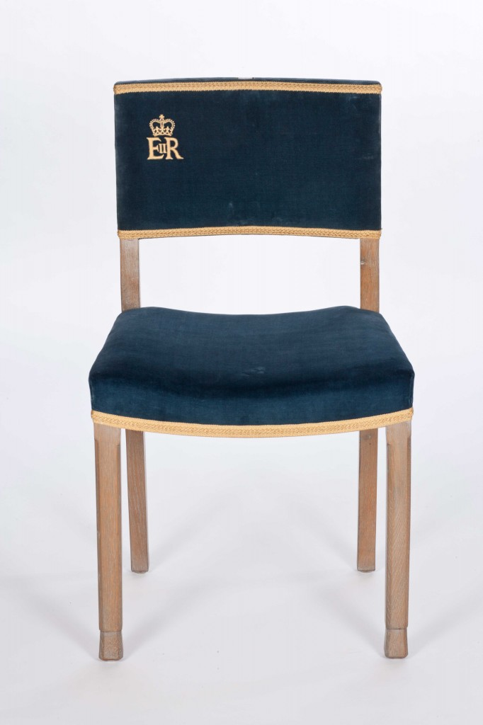 Chairs used at the coronation of Elizabeth II