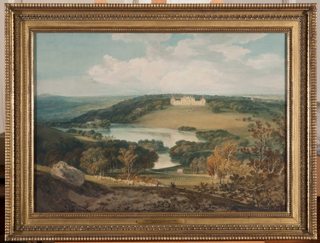 Turner painted at Harewood House in Yorkshire