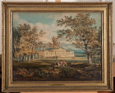 A Turner watercolour on display at Harewood House