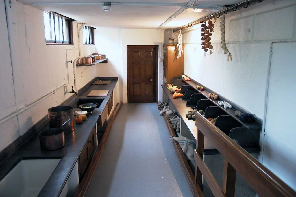 Harewood House in Yorkshire has a vegetable scullery visitors can enjoy
