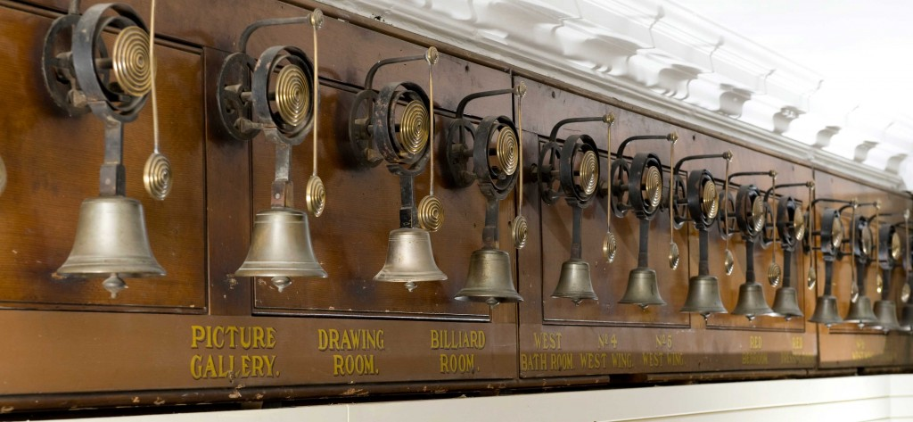 Servants bells at Harewood House in Harrogate