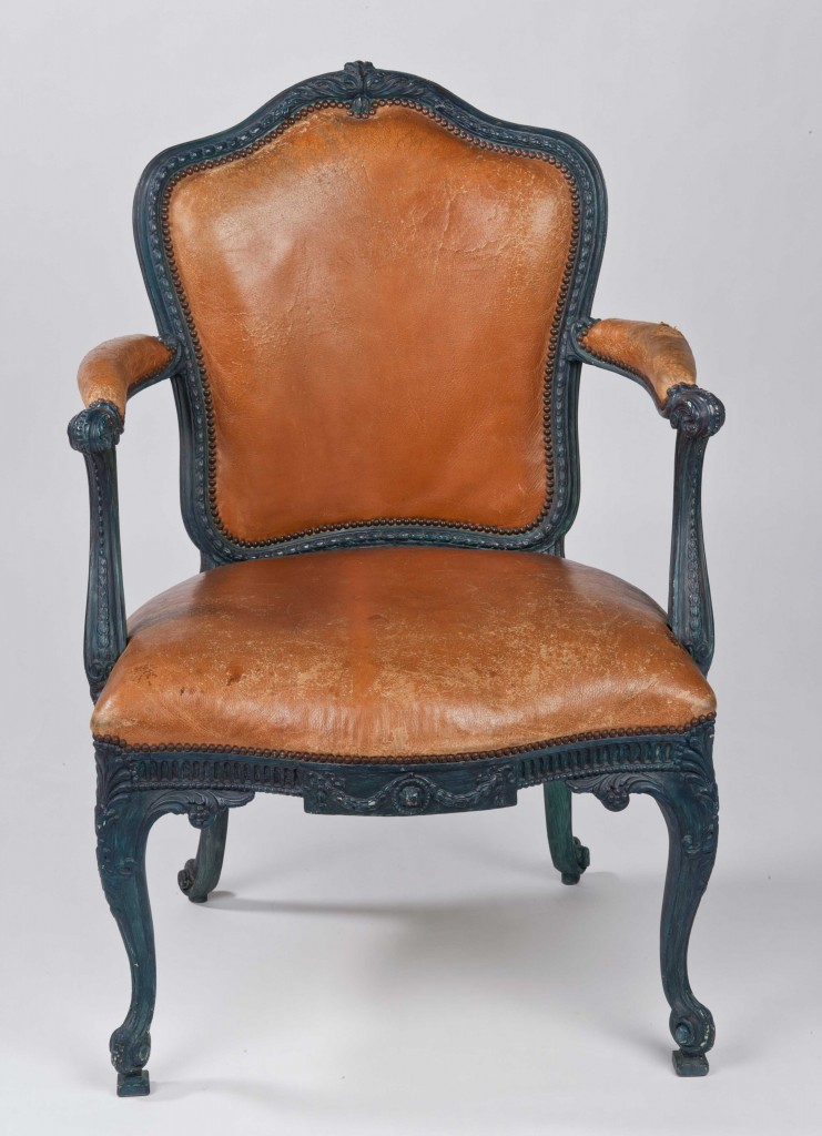 Surviving Chippendale open arm chairs at Harewood