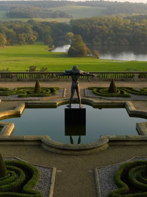 Beautiful views across The Terrace at Harewood in Yorkshire