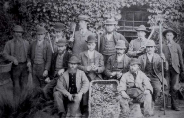 Historic images of staff from Harewood House