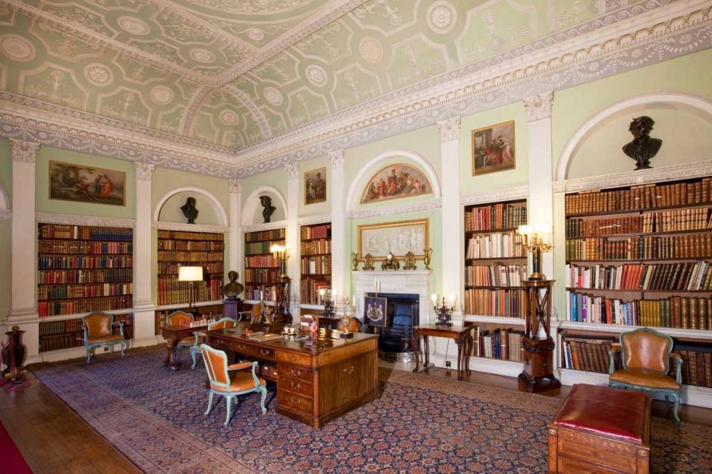 Harewood House near Leeds has interiors by Robert Adam