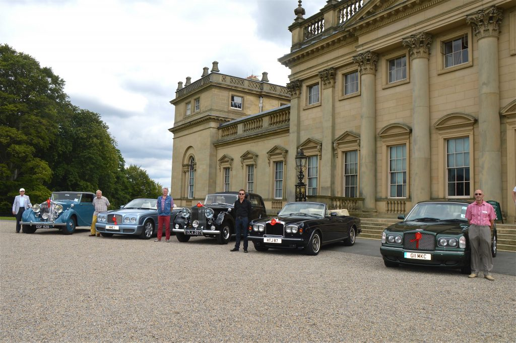 Rolls Royce vehicle display at Harewood House, Leeds, West Yorkshire