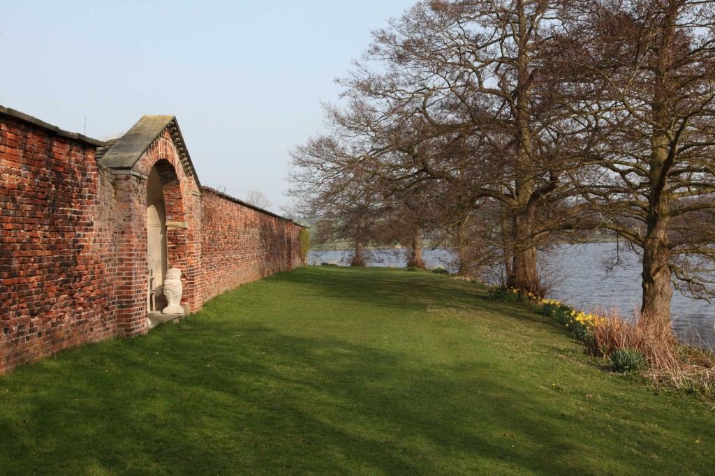 Lakeside view of the Walled Garden at Harewood