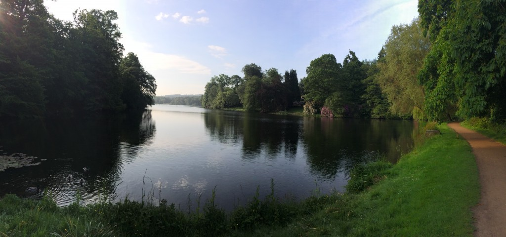 The lake at Harewood House in Yorkshrie
