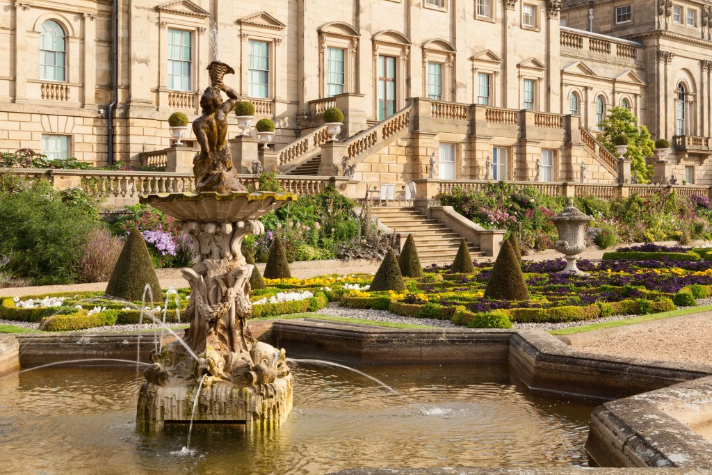 Harewood House fountains on the Terraces in Harrogate
