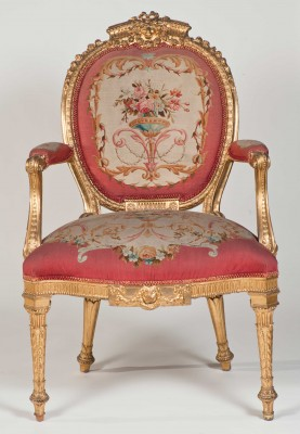 Harewood House near Leeds has Chippendale open arm chairs