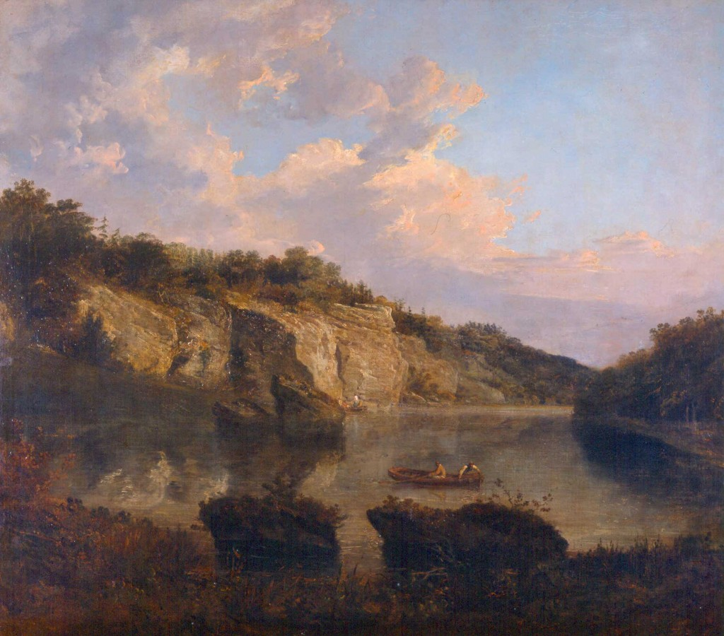 Plompton Rocks painted by Turner is on display at Harewood House near Leeds