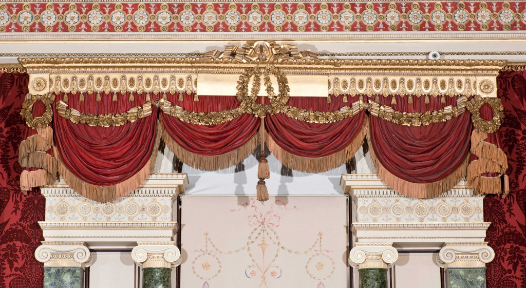 Harewood House in Yorkshire has the world's only Chippendale curtain pelmets