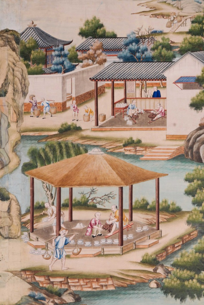 Mint condition Chinese wallpaper at Harewood.