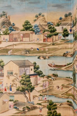 Enchanting scenes on Harewood's Chinese wallpaper