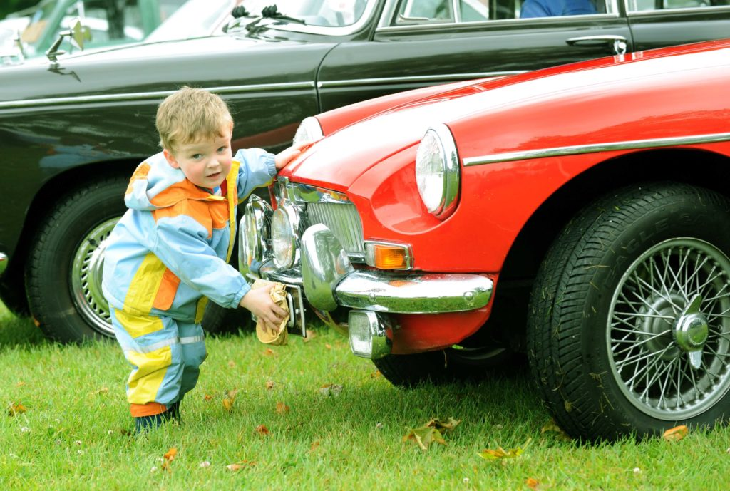 Family day out at Yorkshire Post Motor Show & Classic Car Rally at Harewood