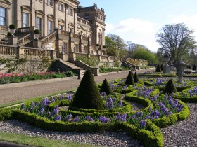 Experience the beauty of Harewood's formal parterre