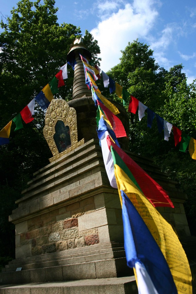 Harewood is home to a Buddhist Stupa