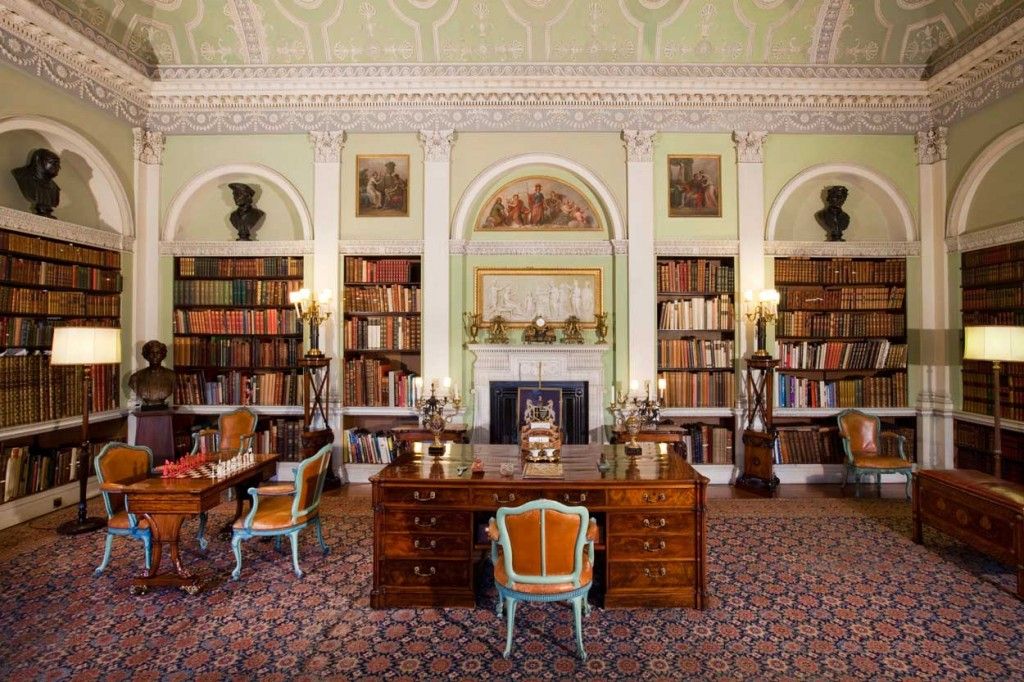Harewood House in Yorkshire has three libraries
