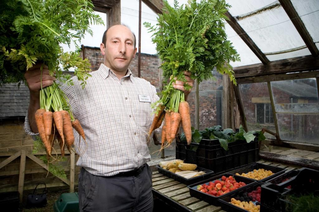 Head Gardener, Trevor Nicholson, in the Walled Garden at Harewood