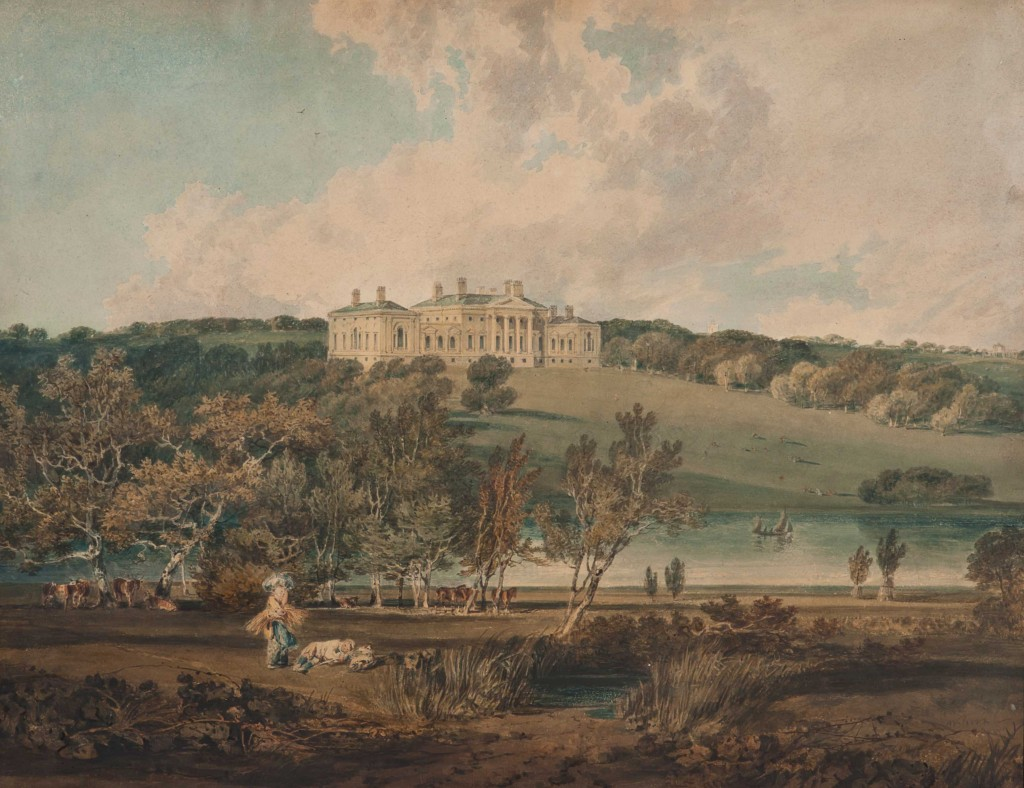 A view of Harewood House by Turner