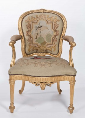 Chippendale arm chairs at Harewood House in Harrogate