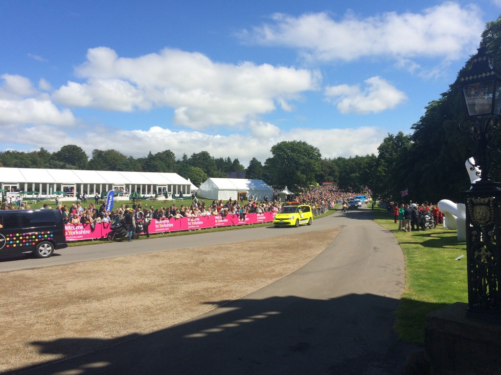 Crowds at Harewood House for Le Grand Depart