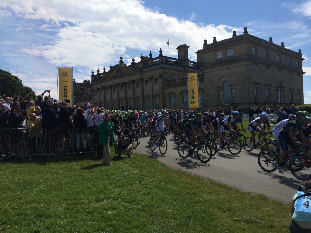 Harewood House in Yorkshire hosted Le Grand Depart