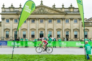 Cycling at Harewood House in Yorkshire
