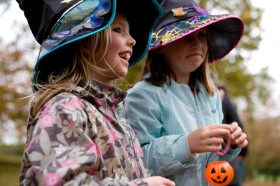 Families enjoy Autumn at Harewood near Harrogate