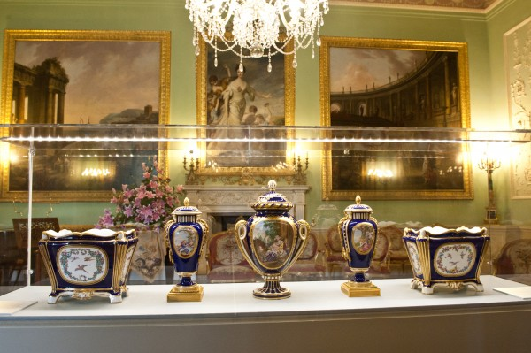 May 2014: Rare Sevres porcelain is displayed throughout the State Floor