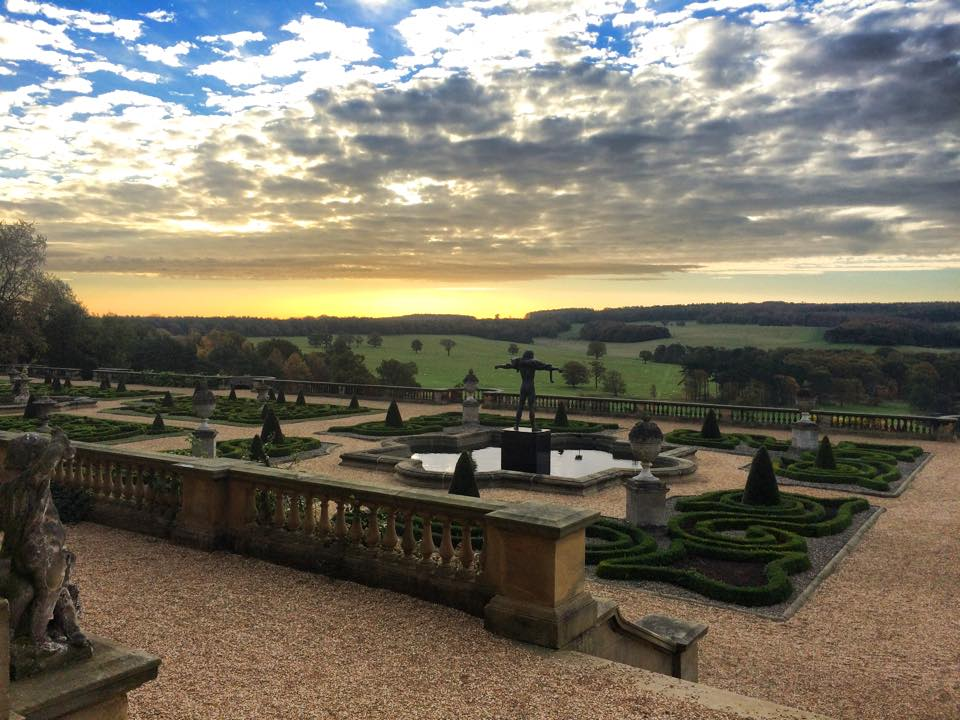 Terrace at sunrise in October credit Harewood House Trust