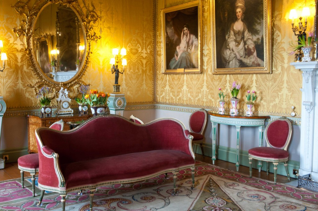 Yellow Drawing Room Settee Harewood House In Harrogate Has Chippendale Furniture Collection On Display