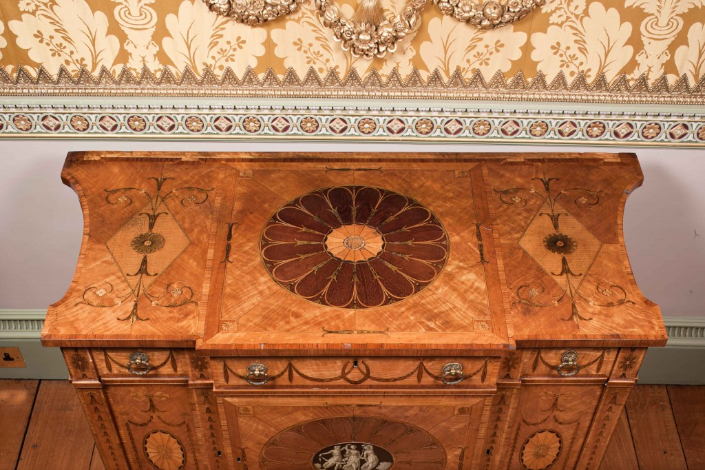 Detailed image of Chippendale Dressing Commode at Harewood in Yorkshire