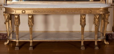 Harewood House is the place to visit to see Chippendale tables