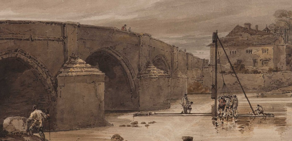 Harewood Bridge by Girtin is a Georgian painting you can see