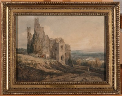 Turner painted Harewood Castle from the east
