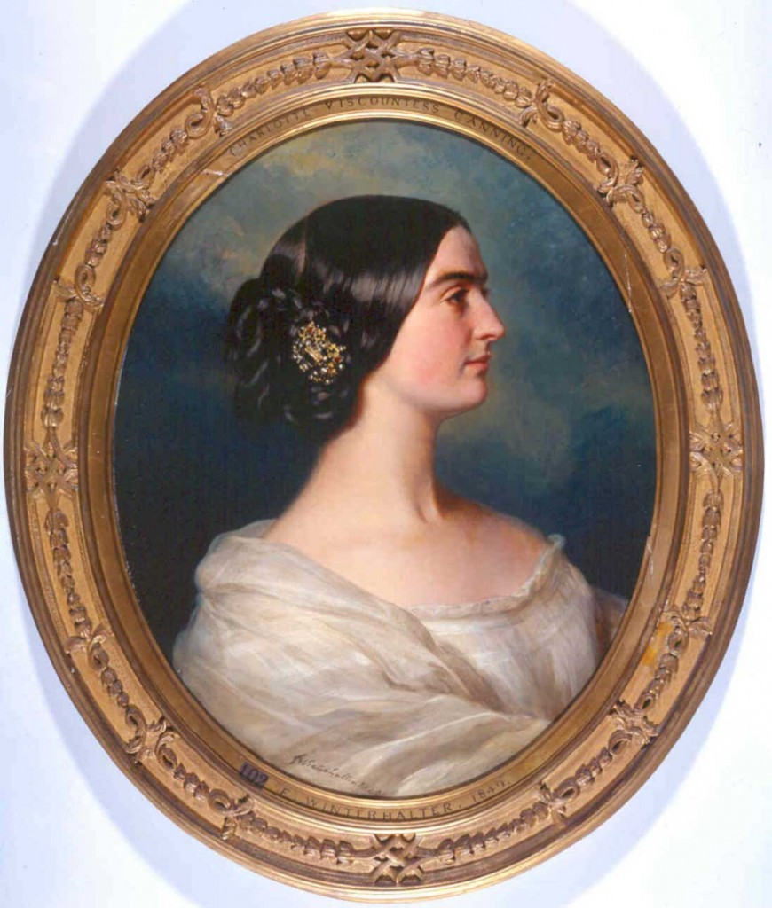See paintings of Charlotte Canning at Harewood House in Yorkshire