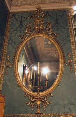 Chippendale mirrors in Harewood near Leeds